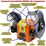Точильный станок 150 мм Workman RBG625A, фото 9