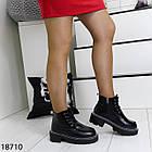 Зимові жіночі чорні черевики, екошкіра/экозамша 37 ОСТАННІЙ РОЗМІР, фото 3