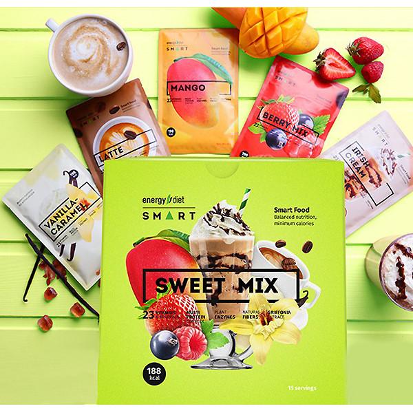 Energy Diet Smart Sweet Mix сбалансированное питание Ассорти из 5 вкусов энерджи диет коктейль для похудения