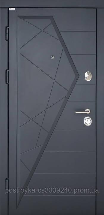 Дверь входная SteelArt Стандарт АЙСБЕРГ МДФ/МДФ Графит левая или правая