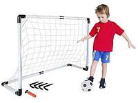 Детские разборные футбольные ворота игровые переносные с мячом и насосом для командного вида спорта и отдыха