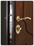 Дверь входная SteelArt Стандарт МИРА NEW МДФ/МДФ Тик тёмный левая или правая, фото 2