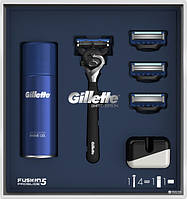 Набор Gillette (Flexball ст +4 зап.+ гель 75мл+ подставка )
