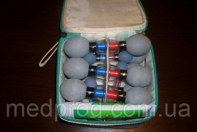 Банки вакуумные магнитные серые Ха Чи HACI комплект - 12 шт