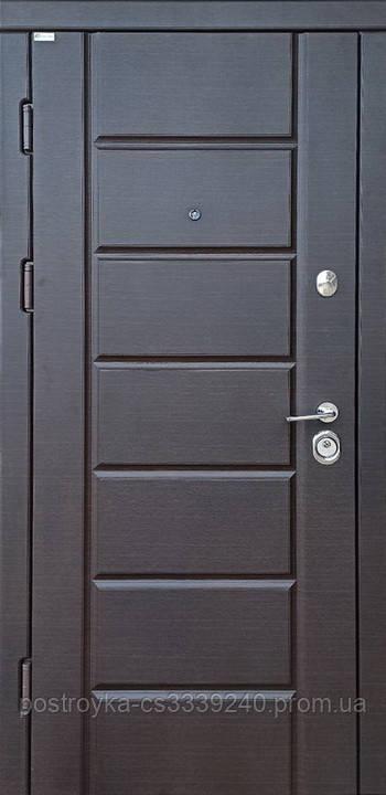 Дверь входная SteelArt Стандарт МИРА NEW МДФ/МДФ Тик тёмный левая или правая