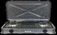 ГАЗОВАЯ ПЛИТА - GGP-6012 (ДВУХКОНФОРОЧНАЯ С КРЫШКОЙ) (GRUNHELM)