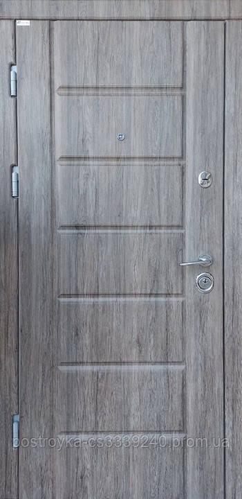 Дверь входная SteelArt Стандарт МИРА NEW МДФ/МДФ Дуб английский левая или правая