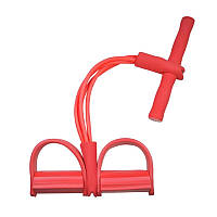 Тренажер эспандер для ног и рук Body Trimmer Многофункциональный тренажер эспандер для тренировок красный