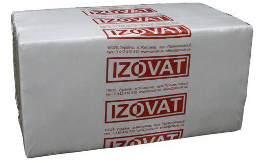 Izovat 65 (Изоват) 150 мм базальтовый утеплитель для вентилируемого фасада