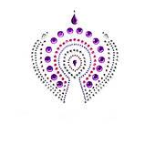 Украшения для груди и бикини FLAMBOYANT со стразами розово-фиолетовый, Bijoux Indiscrets, фото 4