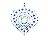 Украшения для груди и бикини со стразами Flamboyant изумрудно-голубой, фото 2