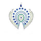 Украшения для груди и бикини со стразами Flamboyant изумрудно-голубой, фото 3