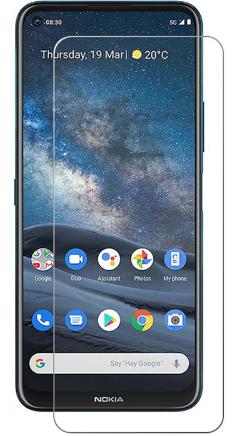 Гидрогелевая защитная пленка на Nokia 8.3 5G на весь экран прозрачная