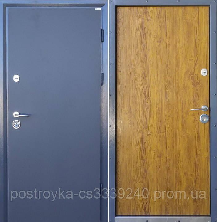 Дверь входная SteelArt Коттедж Металл/МДФ Графит/Орех 3D левая или правая