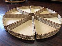 Плетеные лотки треугольные  круг из лозы, фото 1
