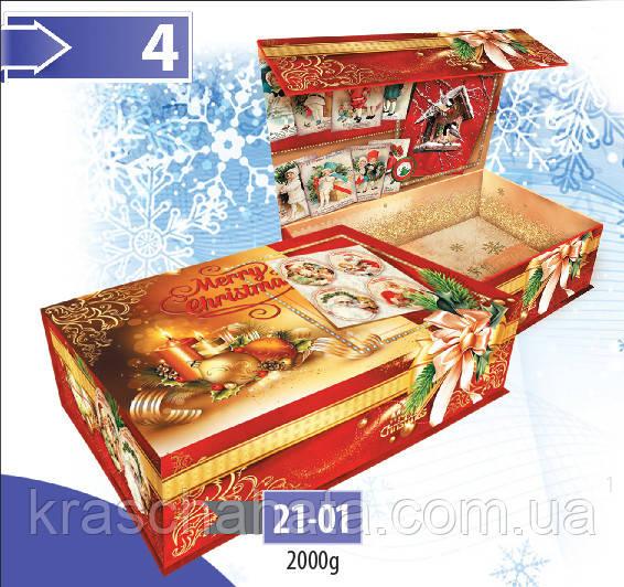 Новогодняя коробка,  Шкатулка,  Картонная подарочная коробка