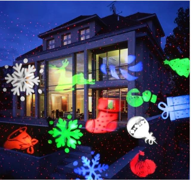 Лазерная установка 12 картинок Новый год Рождество  BabySbreath Star shower Laser Light SE326-02