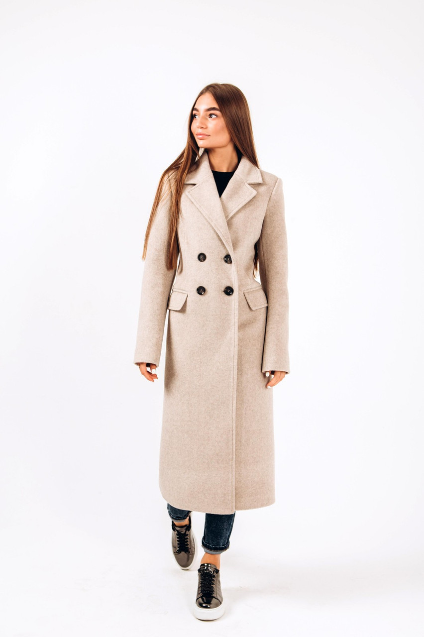 Длинное теплое пальто Альпака O.Z.Z.E Д309