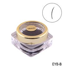 Черные ресницы в банке (Ø 0,2 mm, длина 10 mm) Lady Victory  LDV EYB-B/0-3