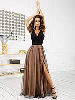 Женское нарядное длинное платье
