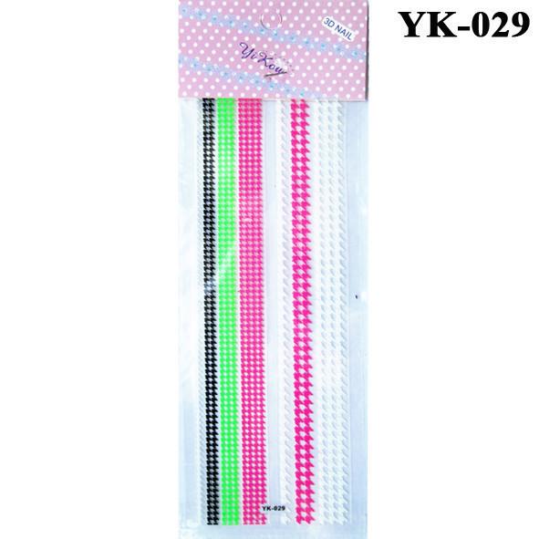 Наклейки для Ногтей Слайдеры для Дизайна Самоклеющие Цветные YK-029, Дизайн ногтей