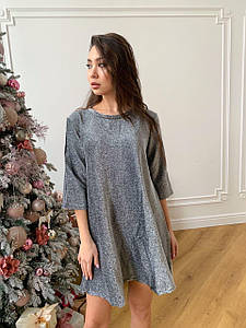 Стильное платье свободного кроя из люрекса  42-48 р