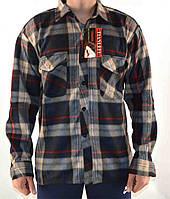 Рубашка теплая мужская на пуговицах фланель