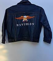 Дитяча Мотокуртка шкіряна бренду  Harley DEVIDSON ( 135-х)