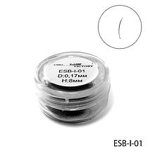 Высококачественные черные ресницы в банке (Ø 0,17 mm, длина 8 mm) Lady Victory  LDV ESB-I-01 /91-1