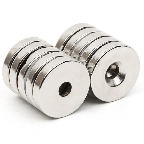 Неодимовый магнит кольцо 10x3 с зенковкой 4/7.5