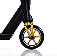 Трюковой самокат с пегами для прыжков Crosser Titan 5.0 Самокат для трюков 115 mm золотой, фото 6