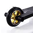 Трюковой самокат с пегами для прыжков Crosser Titan 5.0 Самокат для трюков 115 mm золотой, фото 7