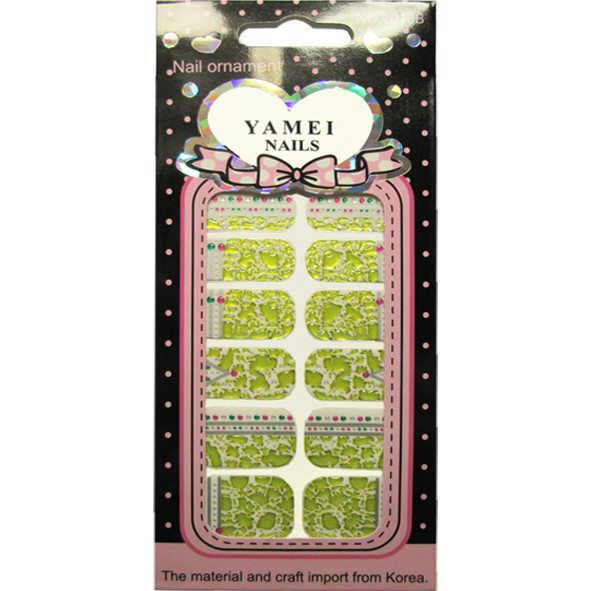 Наклейки Слайдеры для Дизайна Ногтей Ноготки Yamei Nails Самоклеящиеся №2013В № 08, Все для маникюра