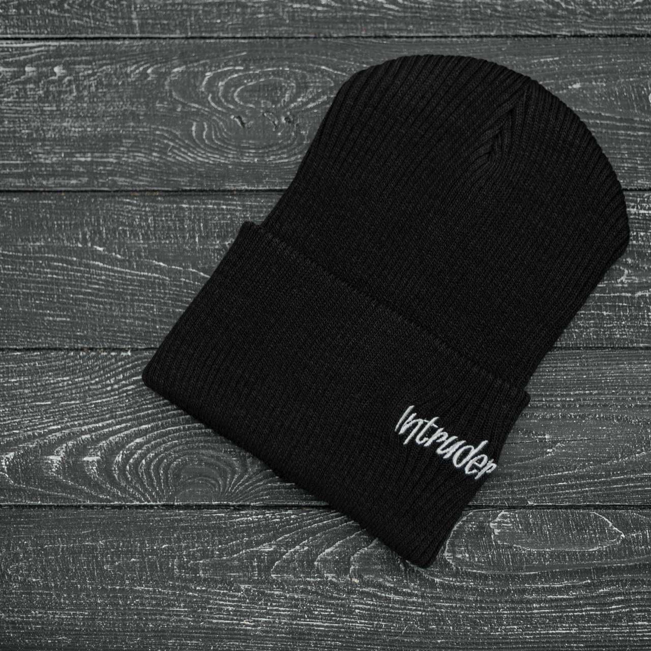 Мужская   Женская шапка Intruder черная, зимняя small logo