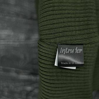 Мужская | Женская шапка Intruder хаки, зимняя small logo зеленая, фото 2