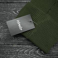 Мужская | Женская шапка Intruder хаки, зимняя small logo зеленая, фото 3