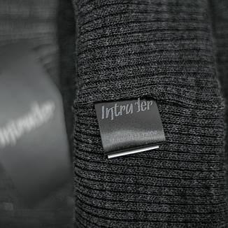 Мужская | Женская шапка Intruder серая, зимняя big logo, фото 2