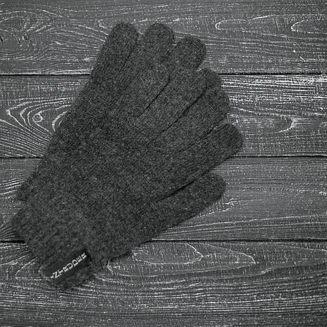 Перчатки Зимние серые мужские   женские с логотипом Intruder, фото 2