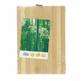 Доска кухонная прямоугольная бамбук 22 х 32 см A-PLUS 6005