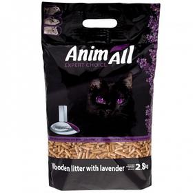 Наповнювач деревне AnimАll (АнимАлл) 2,8 кг з ароматом лаванди для котячого туалету