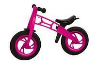 """11-018 малин Велобег 12"""", с надувн. шинами МАЛИНОВЫЙ (Cross bike)"""