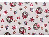 Скатертина новорічна гобеленова 137 х 300 см скатертина різдвяна новорічна гобеленова, фото 3