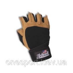 Перчатки с напульсником SCHIEK XS чёрный/коричневый (код 179-497375)