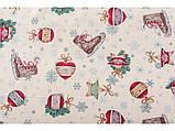 Наперон новорічний гобеленовий 45 х 140 см раннер ранер доріжка на стіл, фото 3