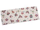 Наперон новогодний гобеленовый 37 х 100 см раннер ранер новогодняя дорожка на стол, фото 2