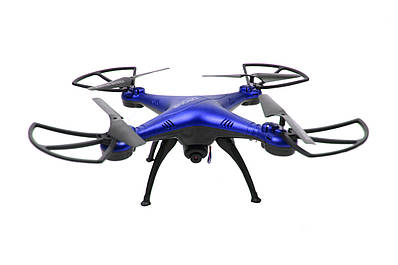 Квадрокоптер летающий дрон Drone 1 million Wifi Pro DM 93 с камерой Синий 184249