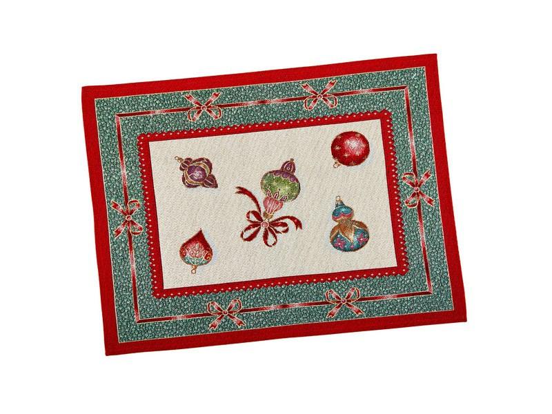 Серветка-підкладка під тарілку гобеленова новорічна 37 х 49 см