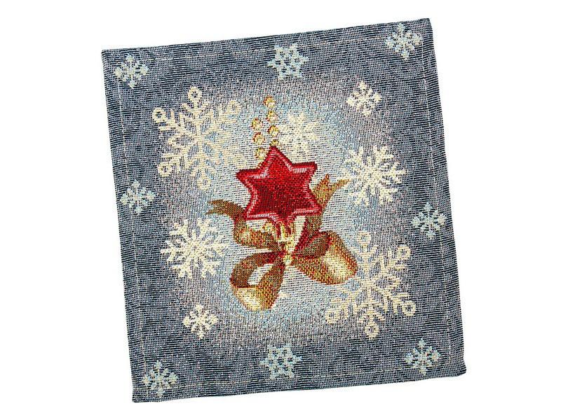 Серветка-підкладка під тарілку новорічна гобеленова 17 х 18 см