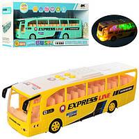 1578 Автобус 31,5см, 1:16,муз-зв(англ),свет,ездит, 2цвета,на бат-ке, в кор-ке, 36,5-18,