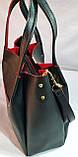 Брендовая женская сумка Michael Kors черно-красная 32*29 см, фото 2